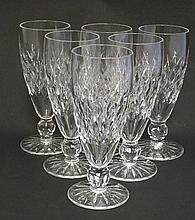 Waterford Crystal : A set of 6 cut crystal short champagne flutes / glasses. 6