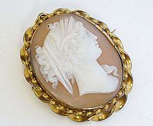 A classical cameo depicting the profile bust of a classical
