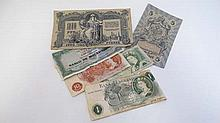 6 Bank notes to include 2 x £1 notes, 1 x 10 shilling, 1 x