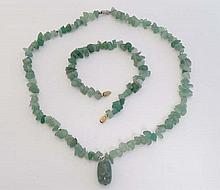 A necklace and bracelet of pale green Larimar ( Stefilia's