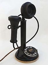An old American Bell Telephone Company candlestick telephon
