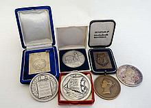 A collection of 6 philatelist medallions awarded to L.Ricka