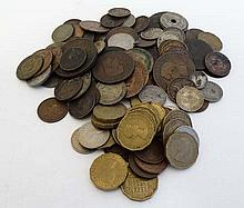Coins: A quantity of various Foreign coins  Please Note