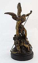 Bronze sculpture Azreal and the Putti On a circular base 24
