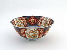 Early 20thC Japanese Imari Bowl : a Signed bowl