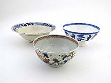 Three assorted 18/19thC Chinese bowls, one signed