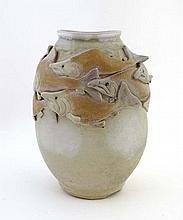 Japanese studio pottery vase : a Japanese