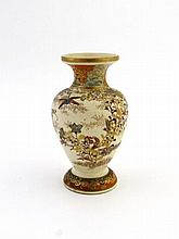 A Japanese early 20thC Satsuma small baluster vase