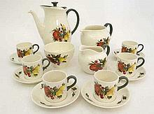 A 6 setting Wedgewood Covent Garden coffee set. To include coffee pot, 6 cu