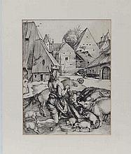 After Albrecht Durer  Woodblock engraving (reprint)  The Prodigal S