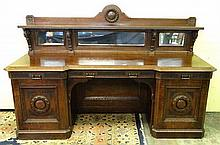 Scottish Arts & Crafts: John Taylor & Son Edinburgh - A late 19thC oak inve