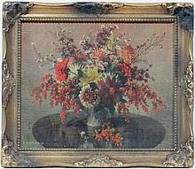 After Vernon Ward (1905-1985)  Coloured print  Still life of flower