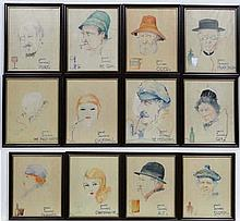 XX cartoons circa 1930  Watercolours  Drinks & Drinkers to include: