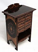 An early 20thC chest with fruiting vine and classical decoration having thr