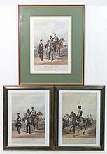 Miltaria: Three 20thC Military Prints of the Fores Yeomanry Costumes series