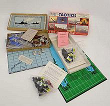 Two boxed tactical board games designed by Harry Gibson. A c1943 Naval tact