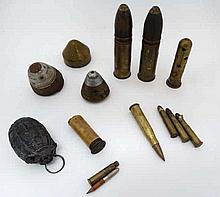 WWI: A varied collection of inert Military, Shells, Projectiles and Fuses,
