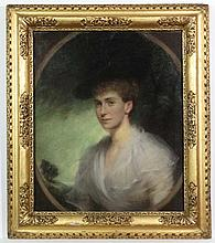 John Ernest Breun (1862-1921),  Pastel oval with a square,  Understood to be portrait of Lad