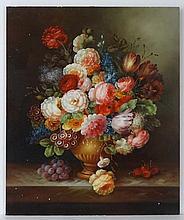 Thomas Webster XX Oil on panel Still life of
