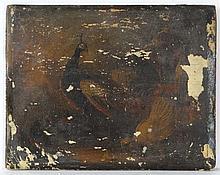 XVIII Continental School Oil on vellum laid on