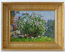 Irina Ribakova (b.1957), Russian School Oil on