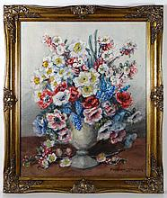Marion Broom (1878-1962) Watercolour A vase of