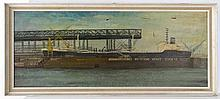 C. 1950 German Marine School Oil on canvas A