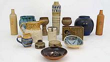 A Quantity of Pottery items including some Cornish and Scottish Studio Pott