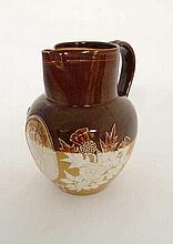 A Royal Doulton 2-tone stoneware jug commemorating Queen Victoria's Golden