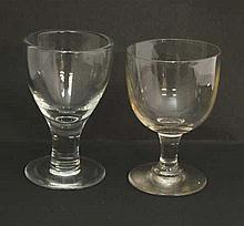 Two glass rummer's, late 19thC and early 20thC The tallest 6 1/4