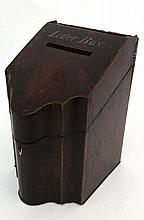 An 18thC / 19thC Country House letter box formed as a double Serpentine fro