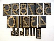 Leeds Northern Railway: A 19thC set of cast brass printing letters, to incl