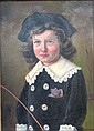K Gehr? XIX Oil on canvas Portrait of a Victorian