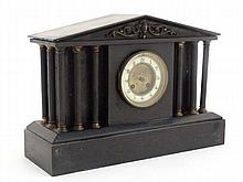 Slate cased Mantle clock : a Palladian style, Architectural manner slate ca