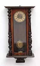 Vienna Wall Clock : an early 20 thC signed ( star within a horseshoe )walnu