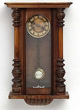 Clock :  a 19 thC Walnut cased 8 day Vienna Wall clock with Kienzl Urhen mo