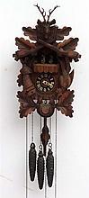 Black Forest Cuckoo Clock : a Three train Guiessaz-Jaccard Swiss Musical Mo