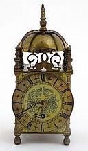 Empire lantern Clock : a 30 hour Brass cased lantern clock with platform es