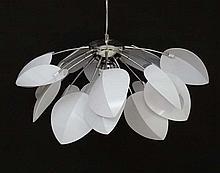 Vintage Retro : an Austrian Pendant lamp / light by Eglo , no. 91357 Akacia