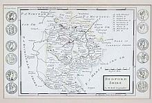 Maps:  A re-print map of Bedfordshire after the original by H. Moll, having