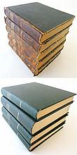 Books: A matched set of 9 volumes of  '' Nouveau Larousse Illustre '' to in