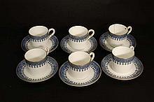 A set of c1903 6 matched John Bates & Co , Worcester House, Christchurch, R