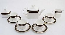 A Royal Doulton '' Cadenza '' tea set, H5046, to include teapot, milk jug ,