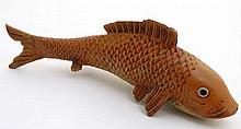 A 21st cold painted bronze model of an oriental Golden Orf fish . 7 1/2'' h