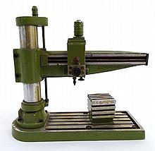 A model of a milling machine, of aluminum construction and green livery 8 1