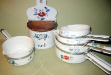 Set of French Paris Porcelain Cook Ware