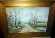 Watercolor Painting of Birch Trees