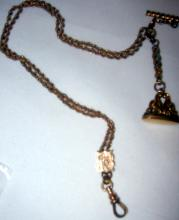 Gold Filled Victorian Watch Chain and Fob