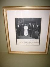 Signed Photo of Pope Pius VI and HC Lodge