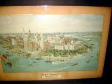 1911 Advertising Print of NY City